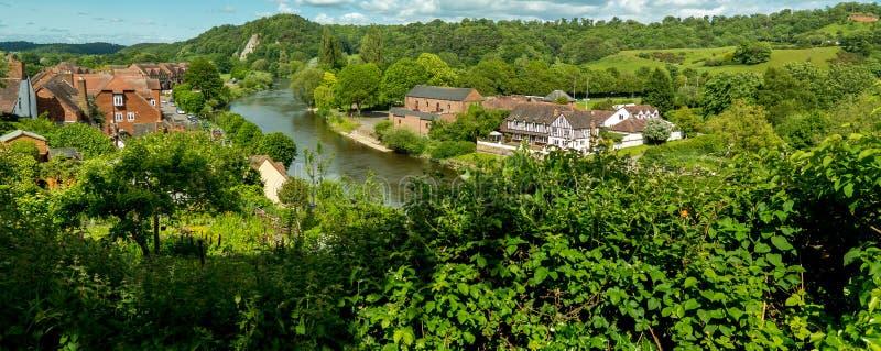 Fluss Severn, Bridgnorth stockfotografie