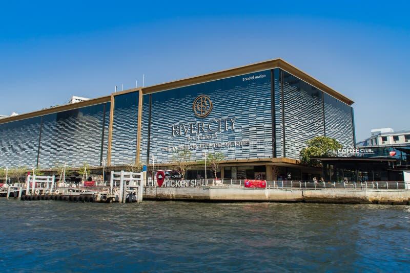 Fluss-Stadt-Bangkok-Einkaufszentrum, der Anker von Künsten u. die errichtenden Antiquitäten, sind ein Einkaufszentrum in Bangkok, stockfoto