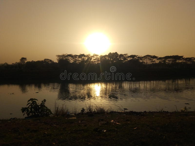Fluss Sylhet Surma vom Kanishail Kheoyaghat lizenzfreie stockfotos