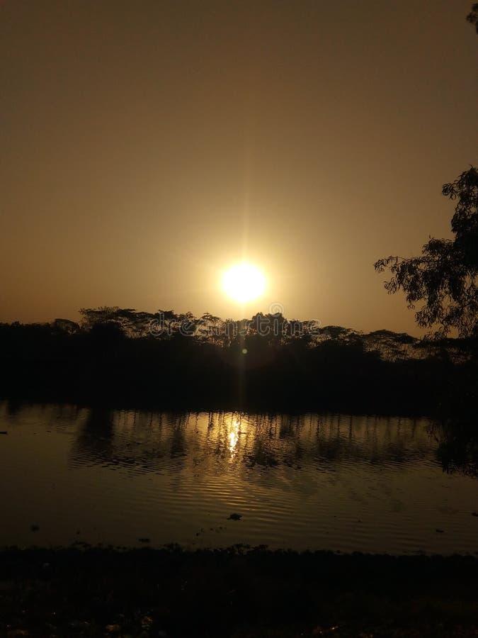 Fluss Sylhet Surma vom Kanishail Kheoyaghat lizenzfreie stockbilder