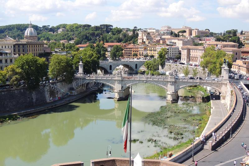 Fluss Tiber, Rom stockfotografie