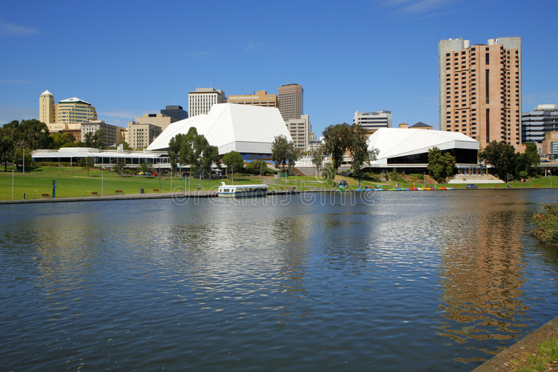 Fluss Torrens Adelaide Südaustralien stockfotos