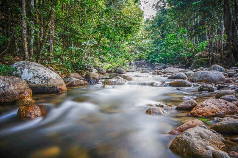 Fluss und langsamer Fensterladeneffekt stockfotografie
