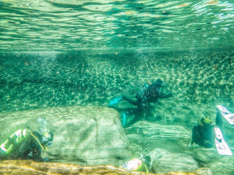 Fluss-Unterwasseratemgerät IV lizenzfreies stockbild