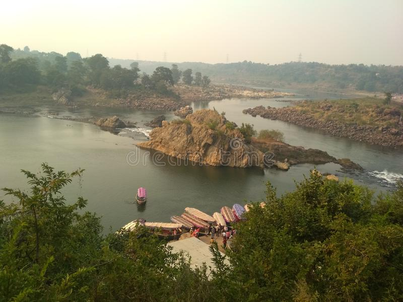 Fluss von Indien lizenzfreies stockbild