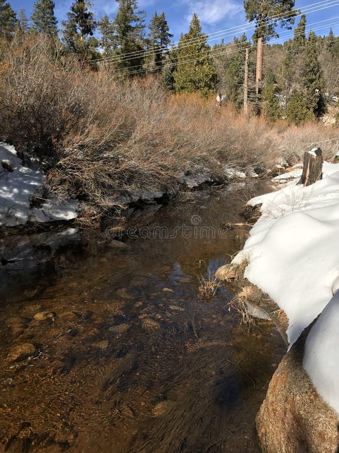 Fluss während des Winters stockfotos