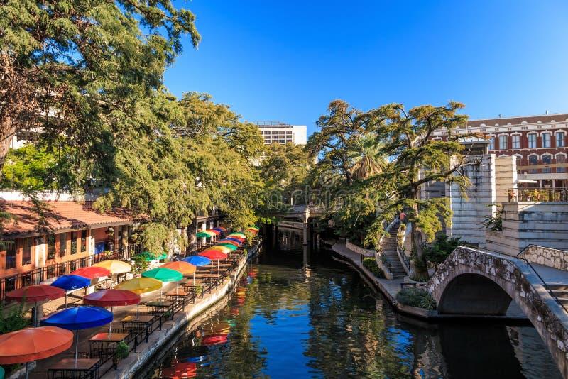 Fluss-Weg in San Antonio, Texas stockbild