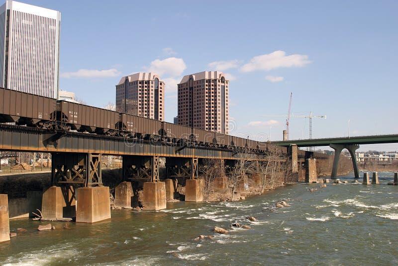 Download Flussansicht stockfoto. Bild von bootfahrt, spuren, eisenbahn - 34230