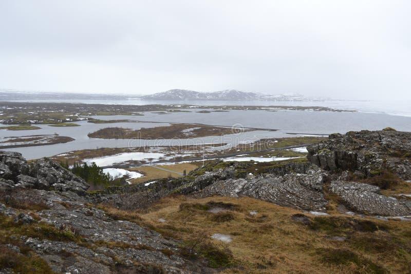 Flussansicht in Island lizenzfreies stockfoto