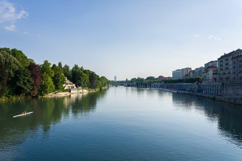Flussbänke PO in Turin lizenzfreies stockfoto