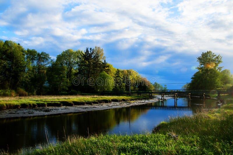 Flussbiegung stockfoto