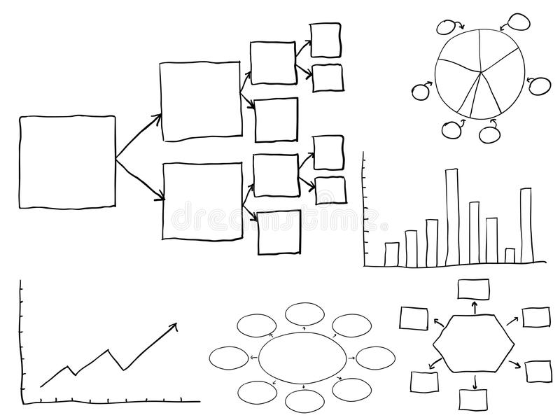 Flussdiagramme stock abbildung