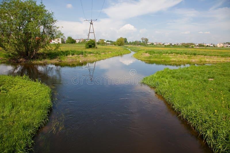 Flussgabelung lizenzfreies stockfoto