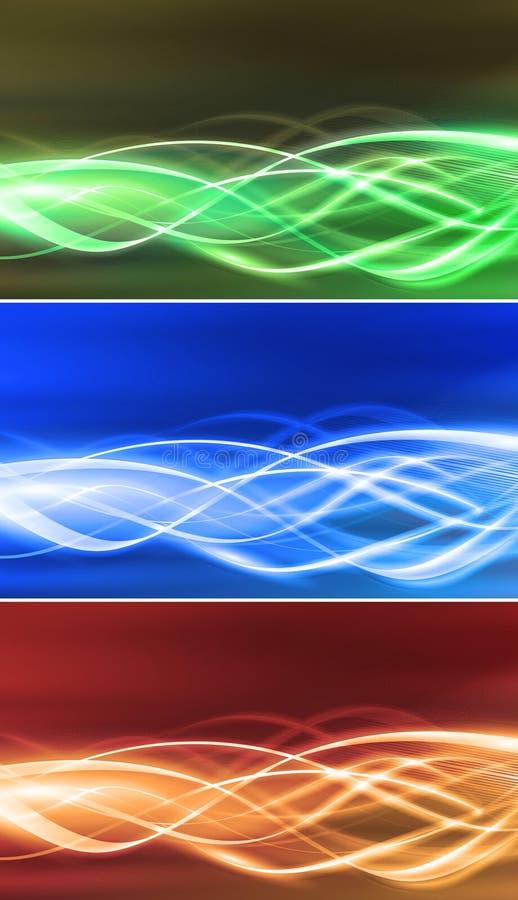 Flussi elettrici di connettività fissati illustrazione vettoriale