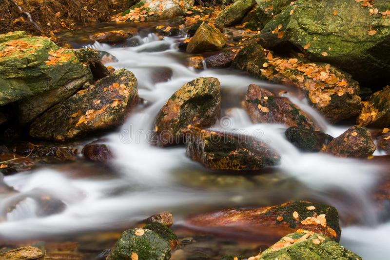 Flusso in autunno fotografia stock