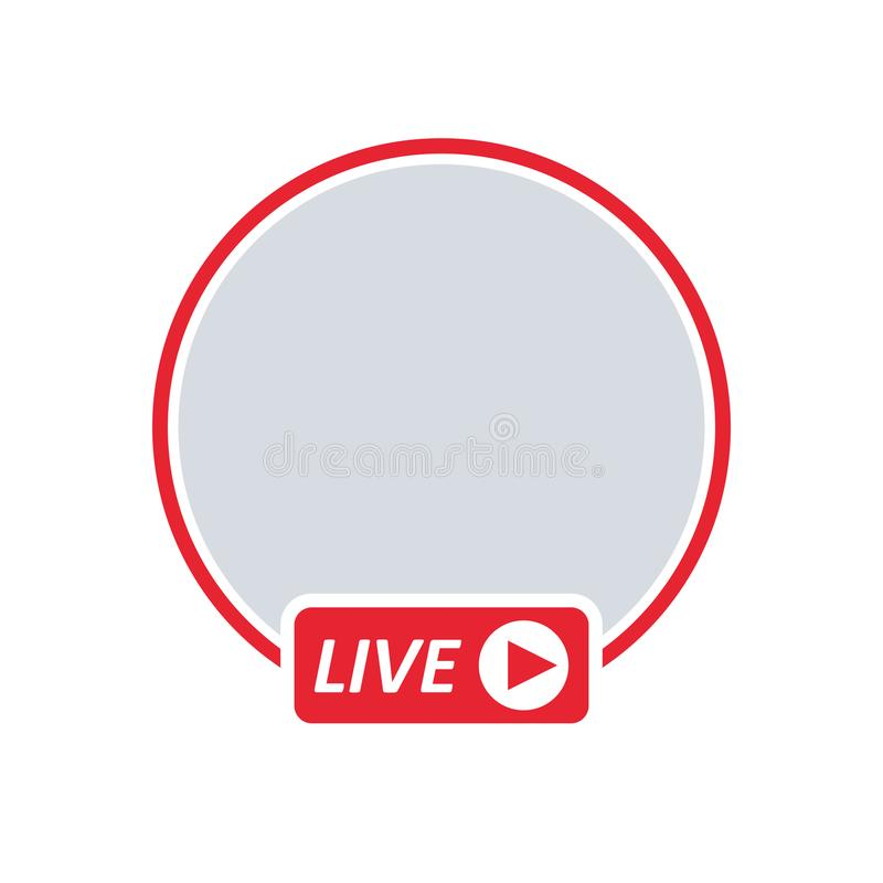 Flusso continuo del video IN TENSIONE dell'utente illustrazione vettoriale
