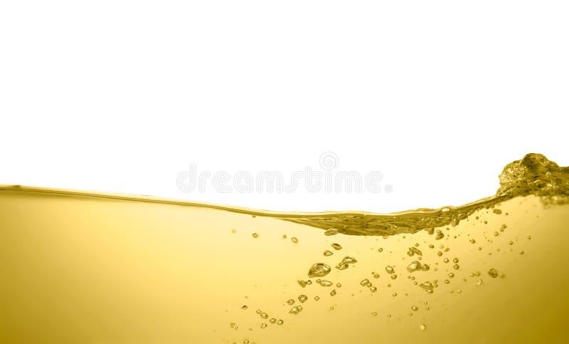 Flusso dell'olio su fondo bianco immagini stock