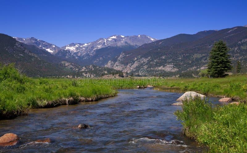 Flusso della montagna rocciosa fotografia stock libera da diritti