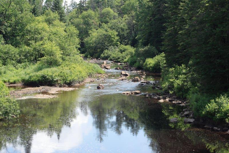 Flusso di Adirondack fotografie stock