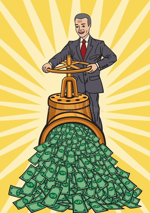 Flusso di denaro illustrazione vettoriale