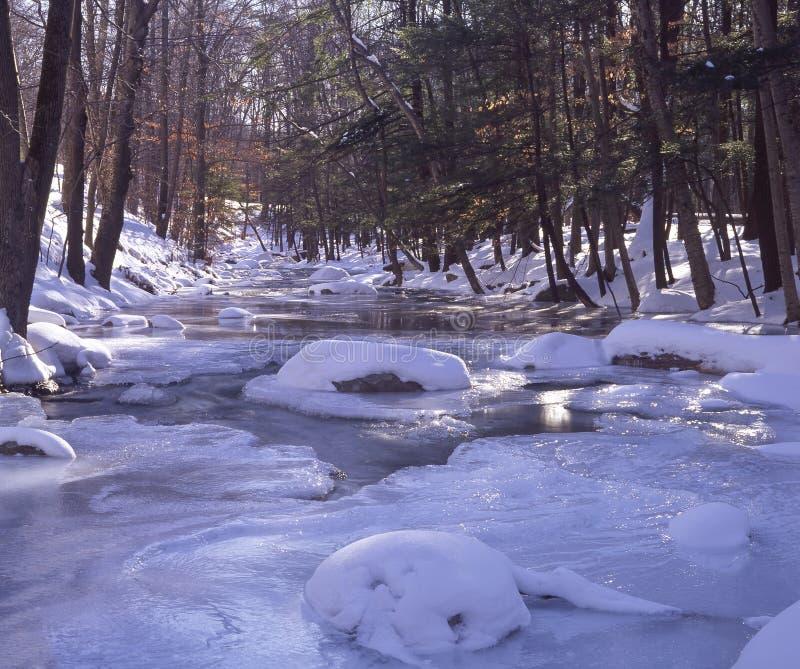 Flusso di inverno immagine stock libera da diritti