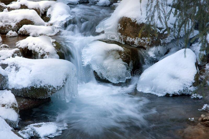 Flusso di inverno immagini stock libere da diritti