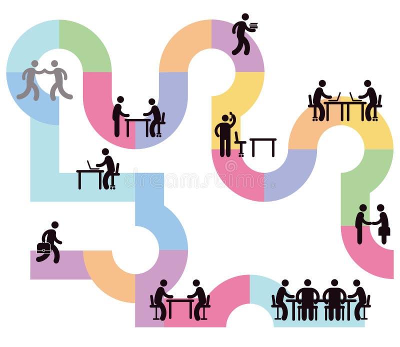 Flusso di lavoro per i gruppi di affari illustrazione vettoriale