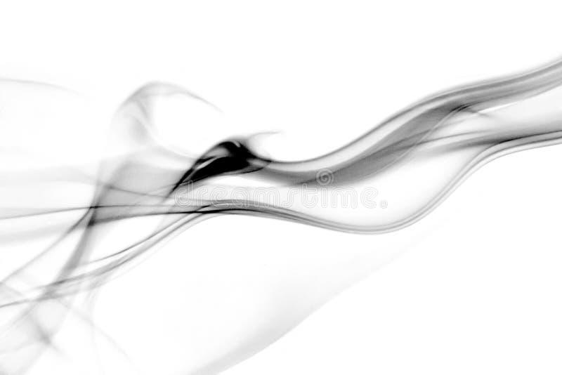 Flusso dinamico di fumo fotografie stock libere da diritti