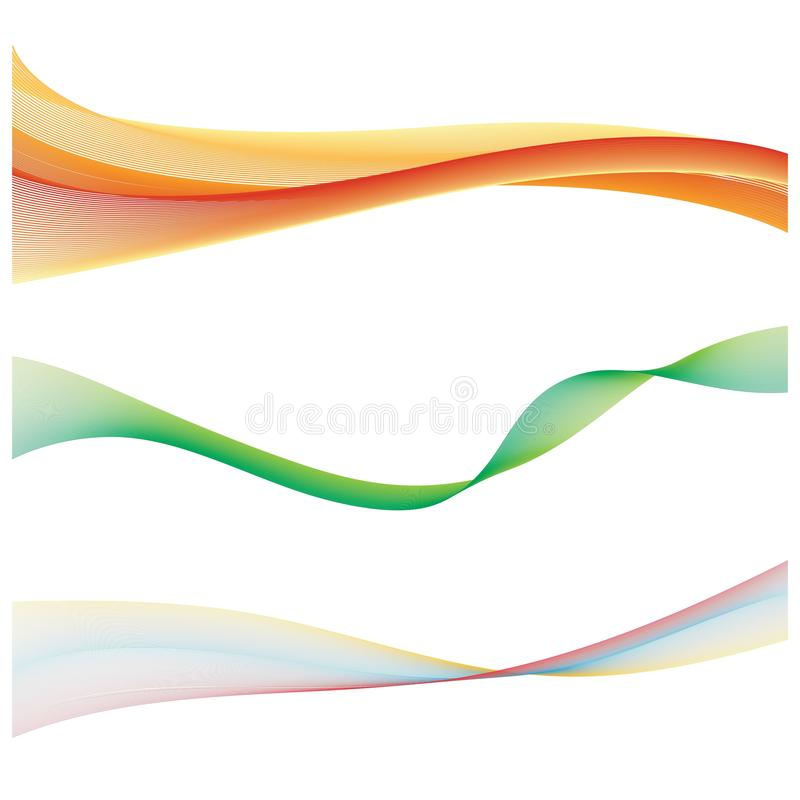 Flusso regolare astratto dell'onda di colore royalty illustrazione gratis