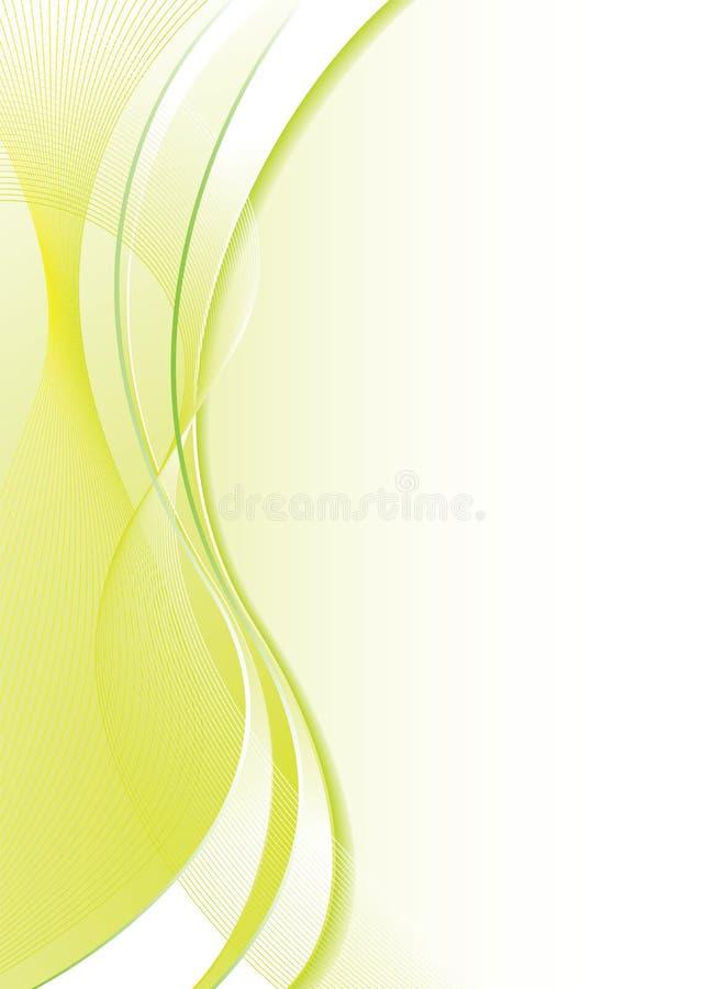 Flusso verde pieno royalty illustrazione gratis