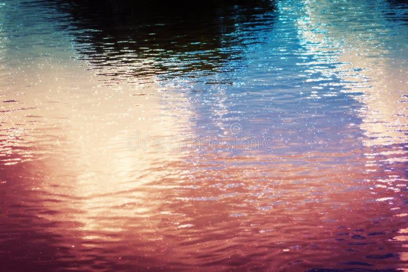 Flussoberflächenmakro gefiltert stock abbildung