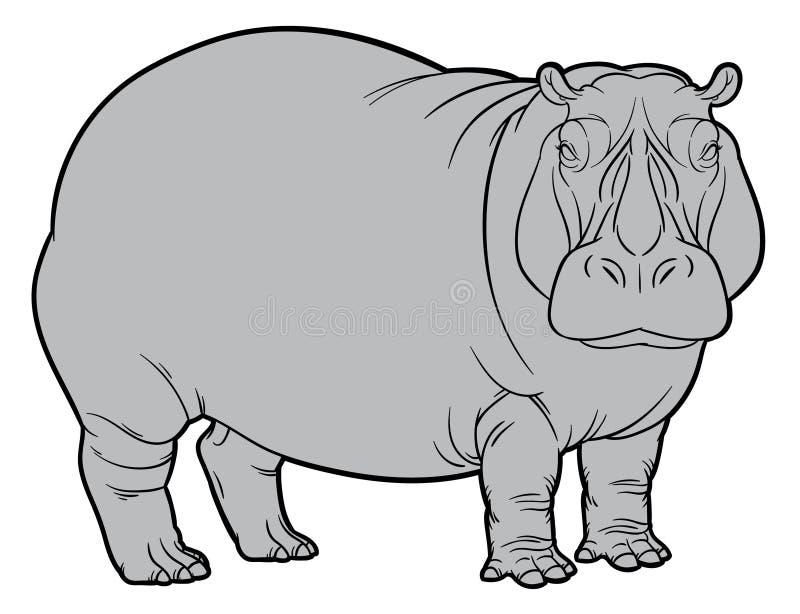 Flusspferd oder Nilpferd vektor abbildung