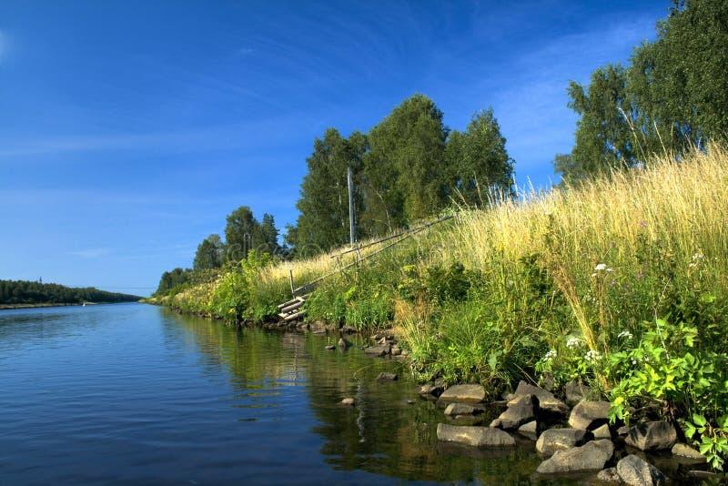 Flussquerneigung lizenzfreie stockbilder