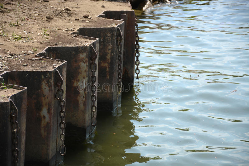 Flussrand stockbild