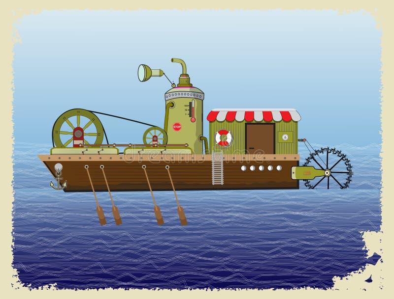 Flussschiff lizenzfreie abbildung