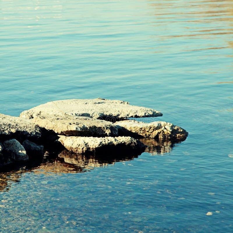 Flussstein lizenzfreies stockbild