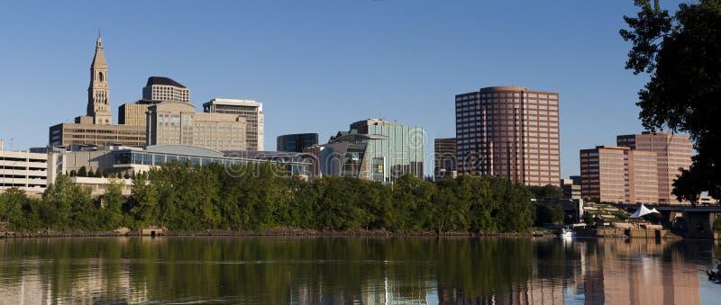 Flussufer Hartford-Connecticut stockfotos