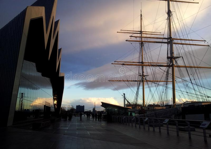 Flussufer-Museum, Glasgow lizenzfreies stockbild