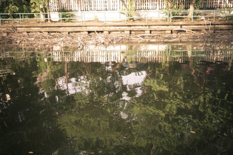 Flussverseuchung und schmutziges stockfotografie