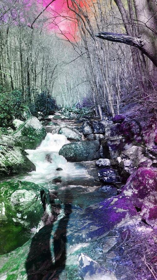Flusswasserfall lizenzfreies stockfoto
