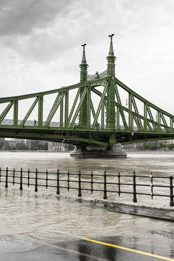 Flut in Budapest stockfotografie