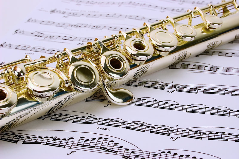 Download Flute stock photo. Image of artistic, score, keys, performance - 7154110