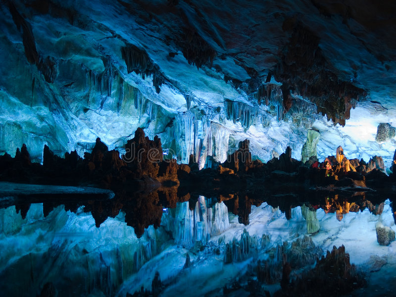 Flute Cavern In Guiling Stock Photos