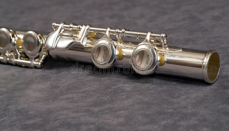 Flute Foot Joint stock photography