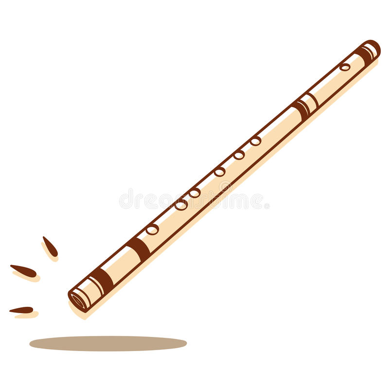 Flute isolated stock image