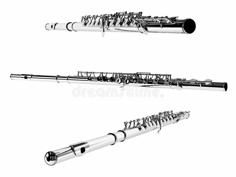 Download Flute Isolated. Multiple Angles Of View Stock Illustration - Image: 36259832