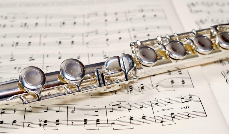 Flute Keys royalty free stock image
