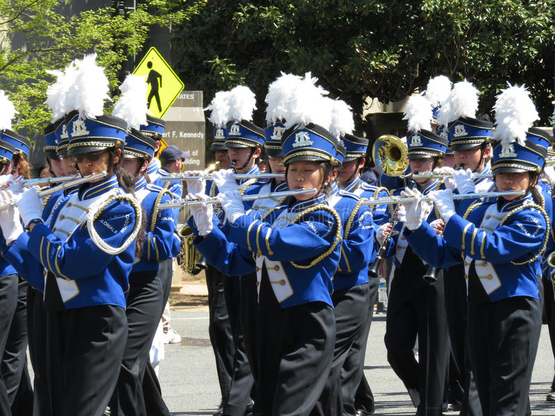 Flute Players at the Parade royalty free stock images