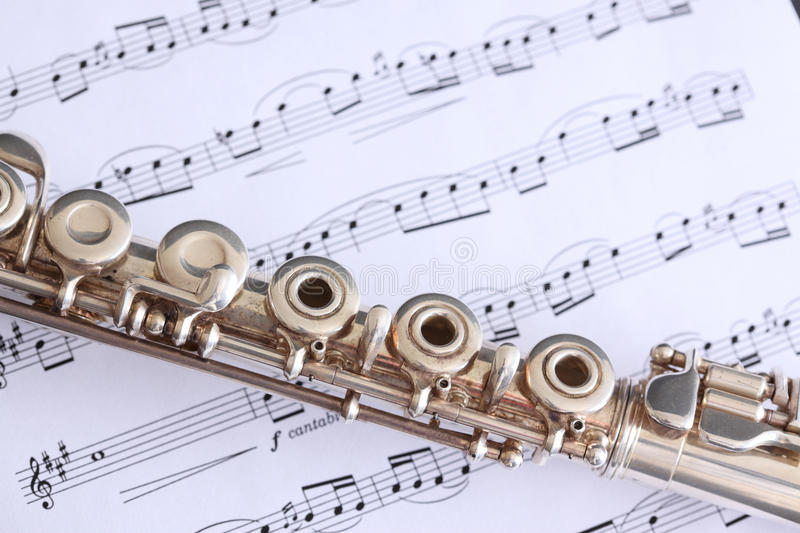 Download Flute and Sheet Music stock photo. Image of pipe, musical - 12833770