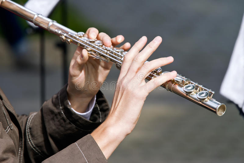 Flutist photographie stock